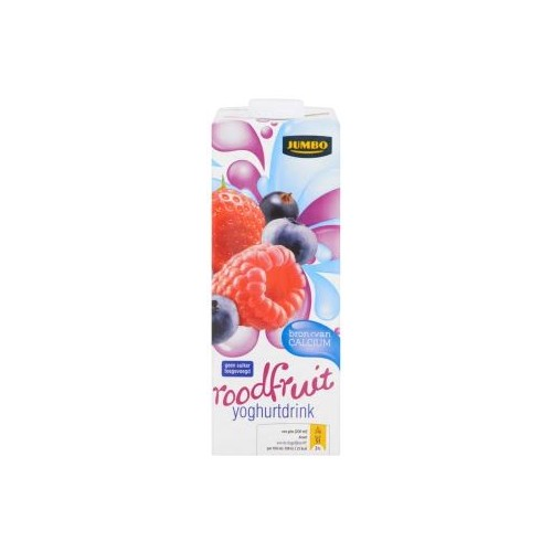 YOGIDRINK ROOD FRUIT 1L JUMBO