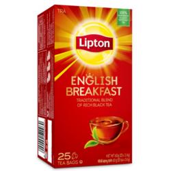 LIPTON 25'S ENGLISH BREAKFAST TEA