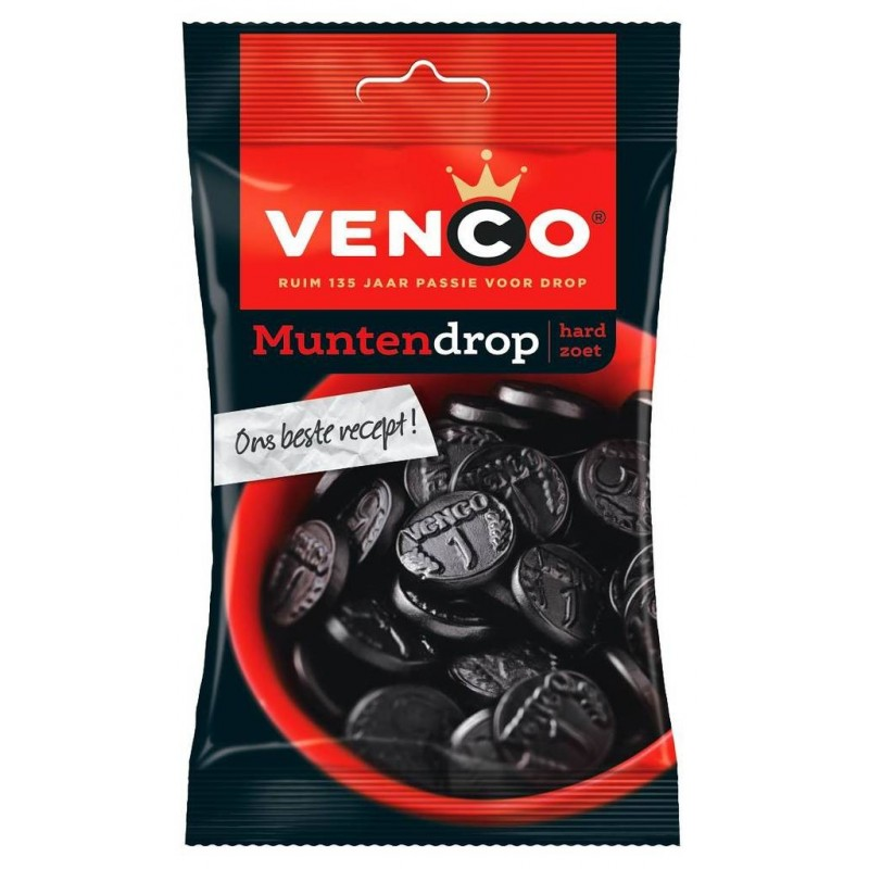 DROP MUNTEN / REGALIZ (X12) 166GR VENCO