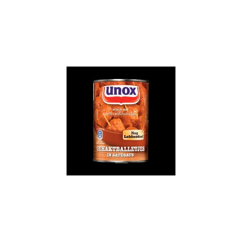 SNACKBALLETJES IN SATESAUS (X6) 420GR UNOX