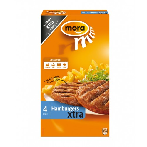 HAMBURGER SUPER EXTRA (X8) 4*80GR MORA